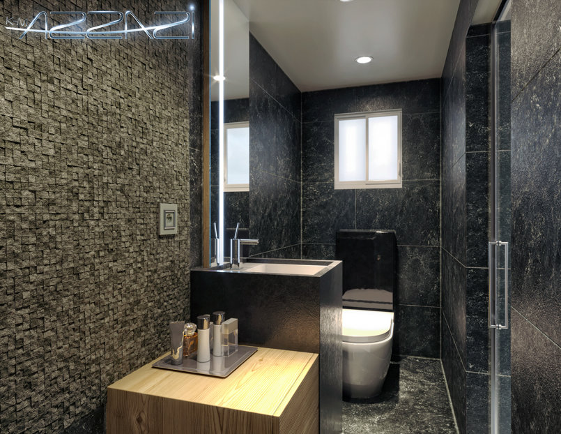 Bedroom + bathroom