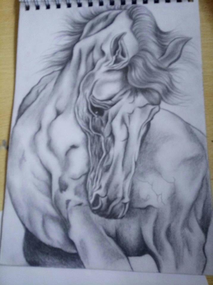 Drow drawing by coal