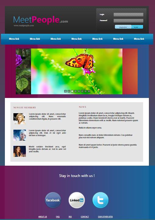 صفحة موقع