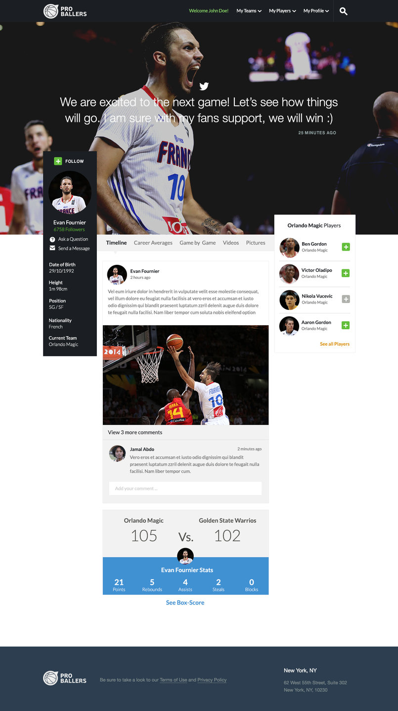BasketBall social network