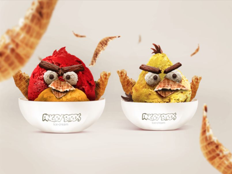 Ice Cream Angry Birds