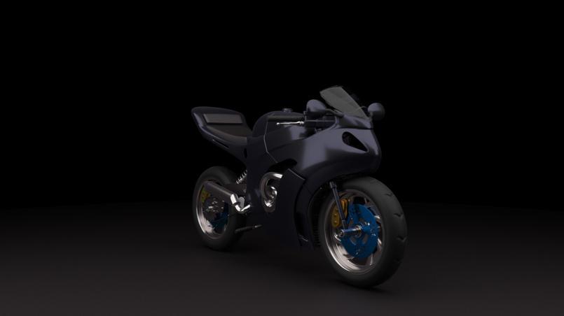 Motorbike 3/4 view