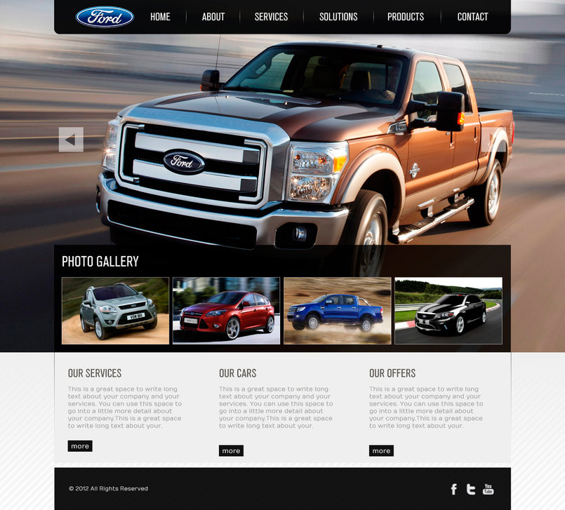 Website Interface Design, UI/UX Design