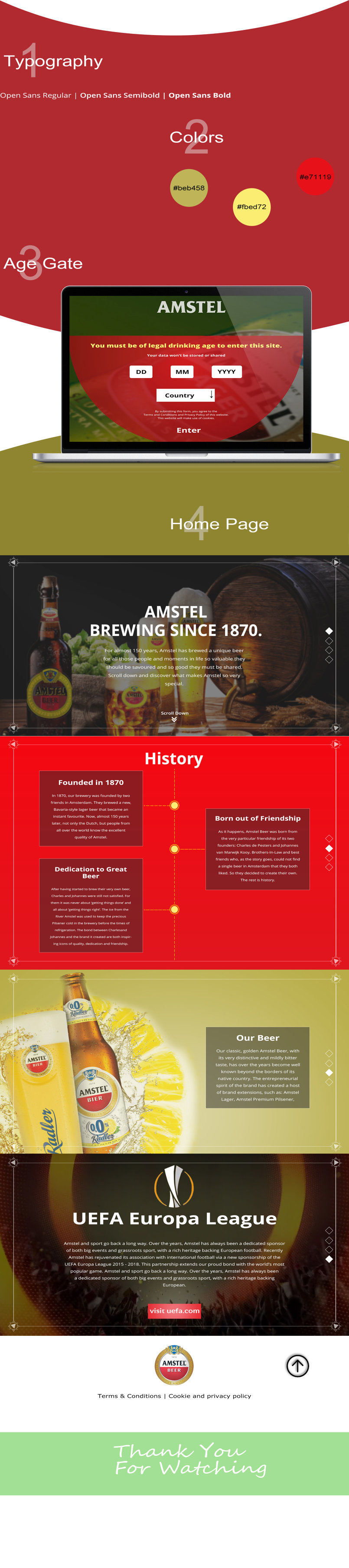 Amstel Website Redesign Concept