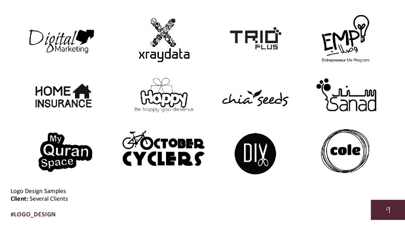 Logo Design Samples Client: Several Clients
