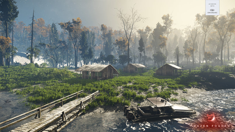 Custom map design (Forest) on CryEngine