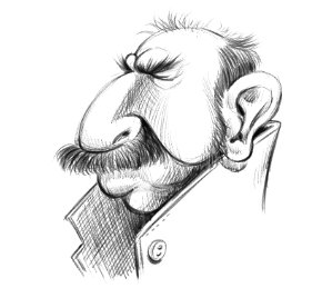 وجه كاريكاتيري