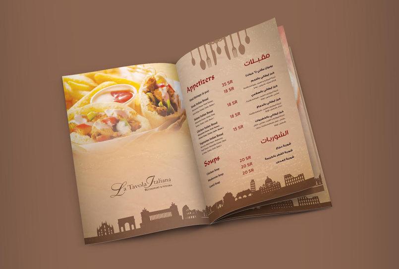 La Tavola Restaurant Menu