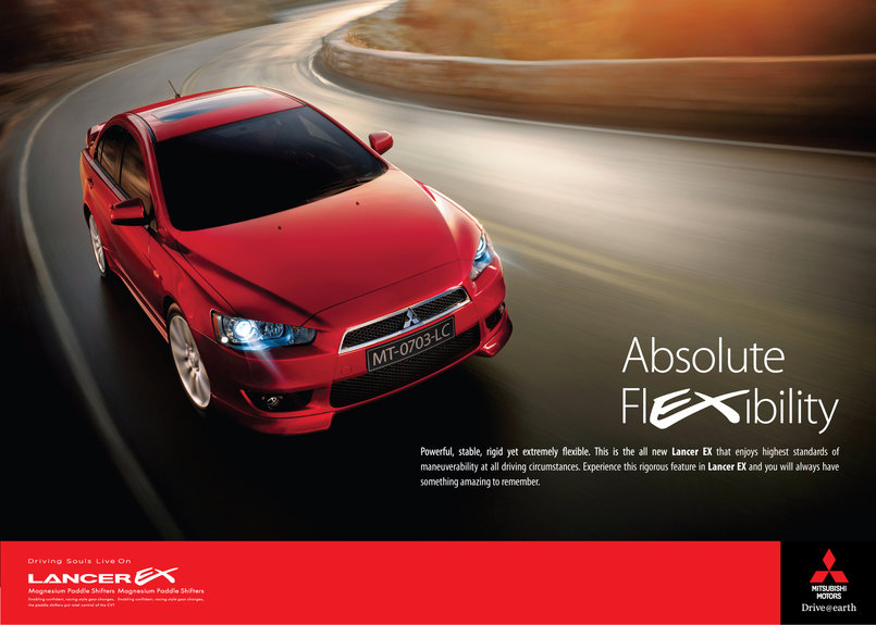 Mitsubishi Lancer Ex : Absolute Flexibelity !