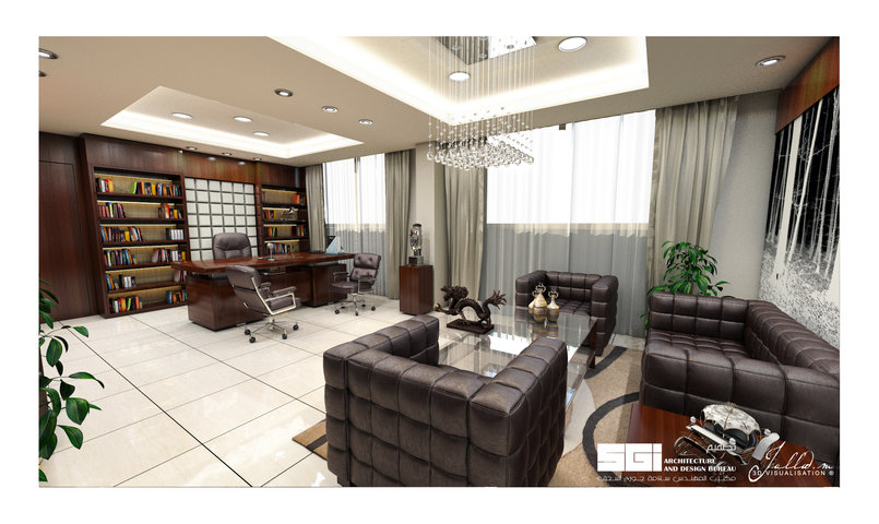 Luxury office design Privet Client 1st. View Designed by : SGI Architects & Design Bureau. 3D ViZ: Jallad 3d visualization.