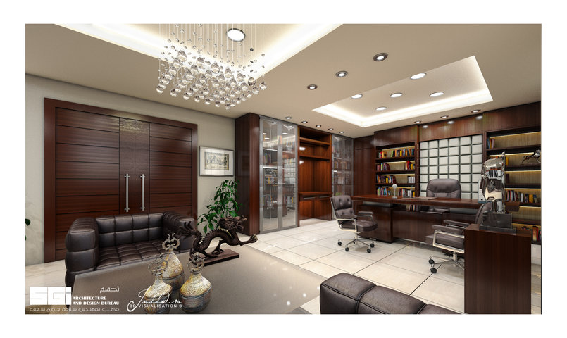 Luxury office design Privet Client 2nd View Designed by : SGI Architects & Design Bureau. 3D ViZ: Jallad 3d visualization.