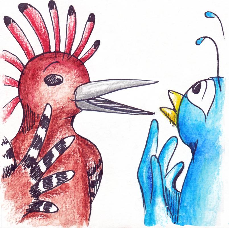 قصة الهدهد و الطاووس