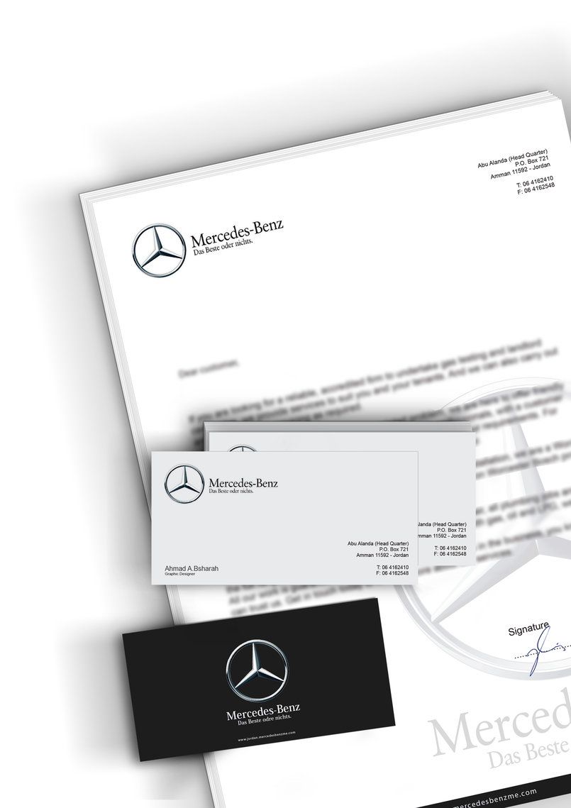 Mercedes benz by ahmad abubsharah ahmad bsharah for Mercedes benz business cards