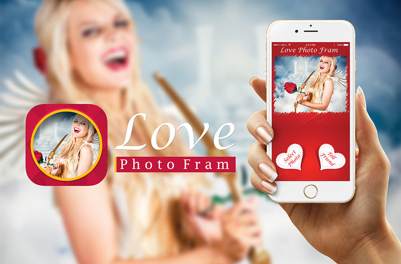 Graphic User Interface for love Photo Frame APP