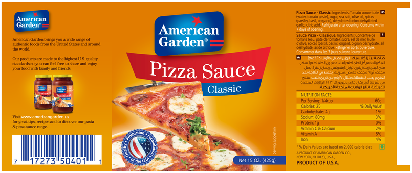 American Garden Products & labels