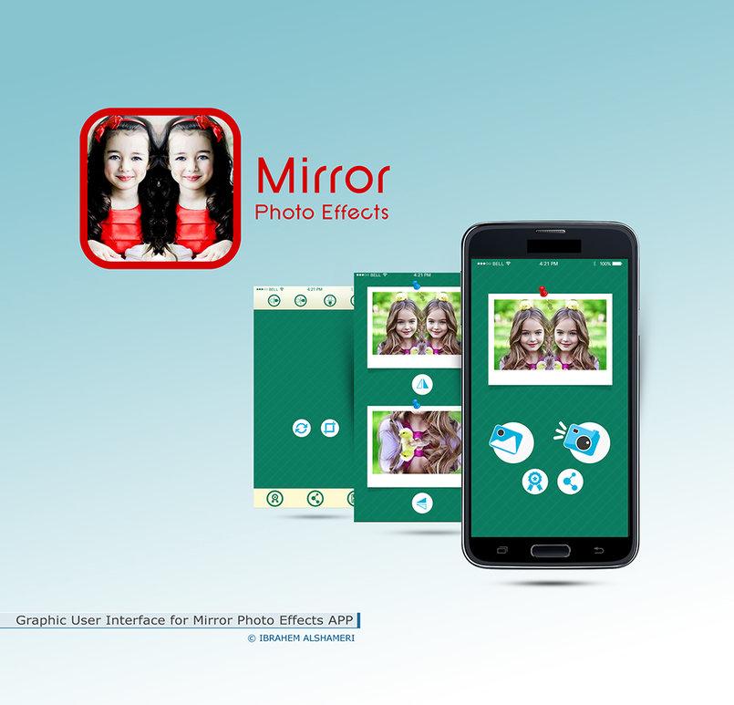 تصميم واجهة تطبيق برنامج Mirror Photo Effects الاندرويد
