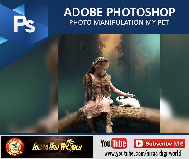 PHOTOSHOP TUTORIAL - Photo Manipulation My Pet https://youtu.be/URVg_w