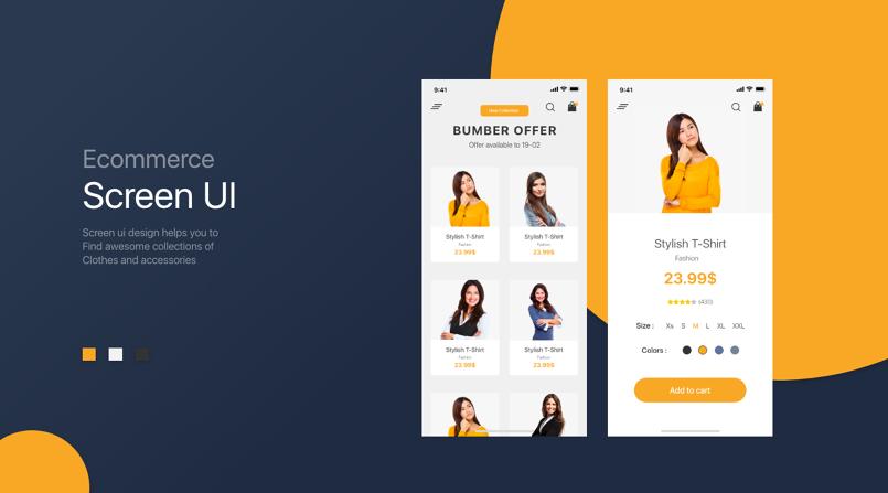بعض من تصميماتي للتطبيقات ui ux design