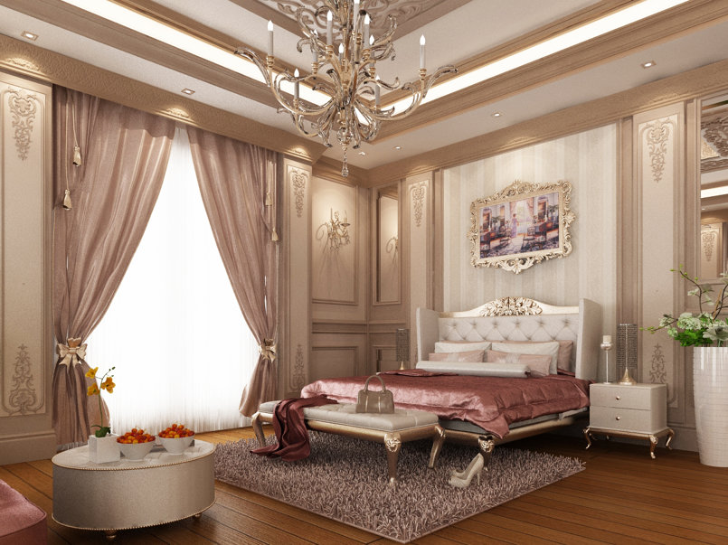 Classic master bedroom