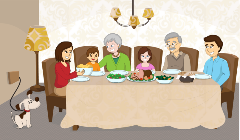 Family Dinner Vector  Illustrator