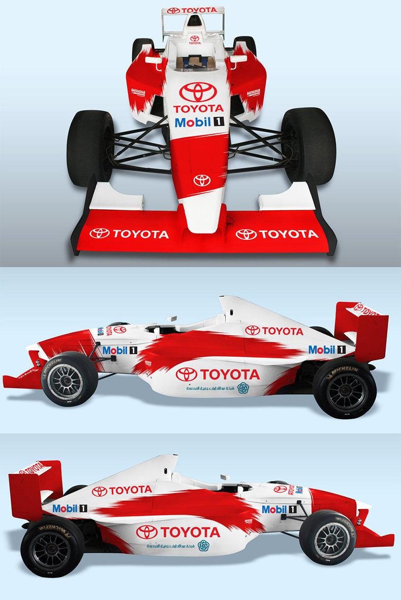 تصميم سيارة فريق تويوتا السعودي للسباقات