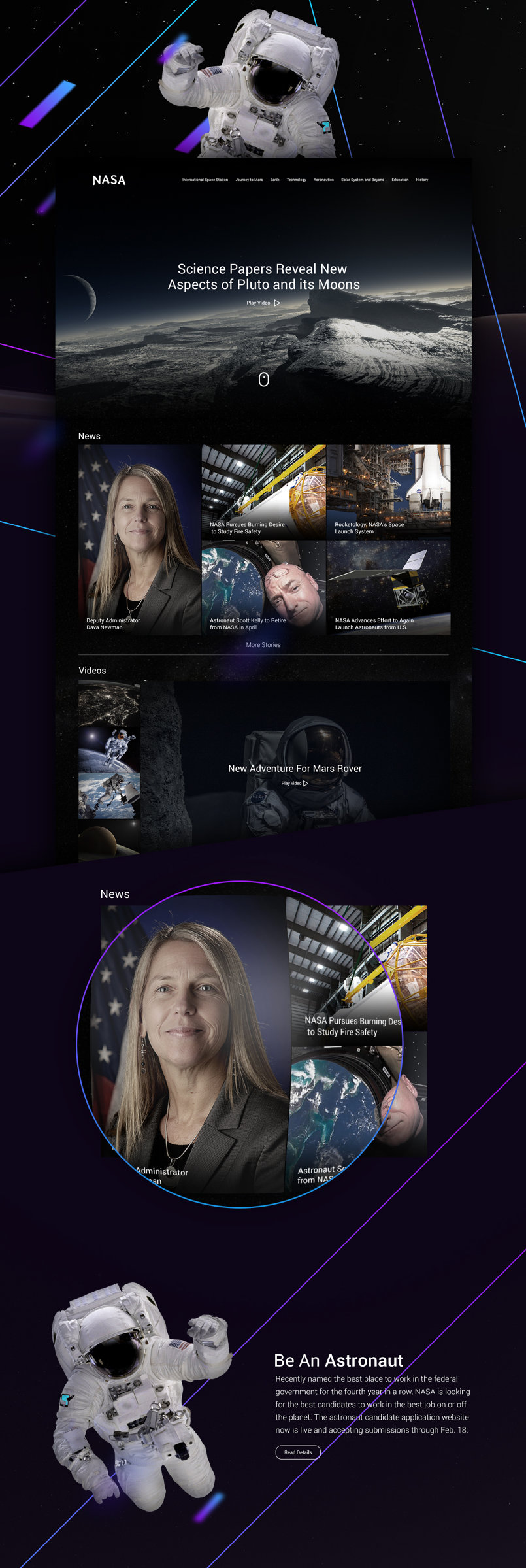 NASA Homepage Redesign
