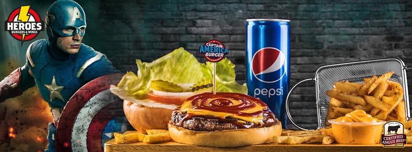 heroes burger social media