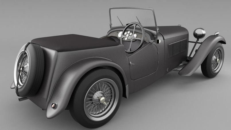 Vintage Sports Car 3D Model