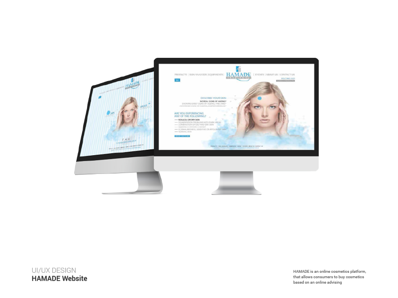 Hamade website design