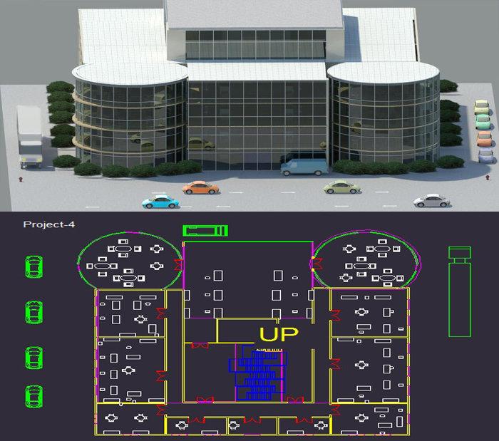 تصميم مبنى شركة