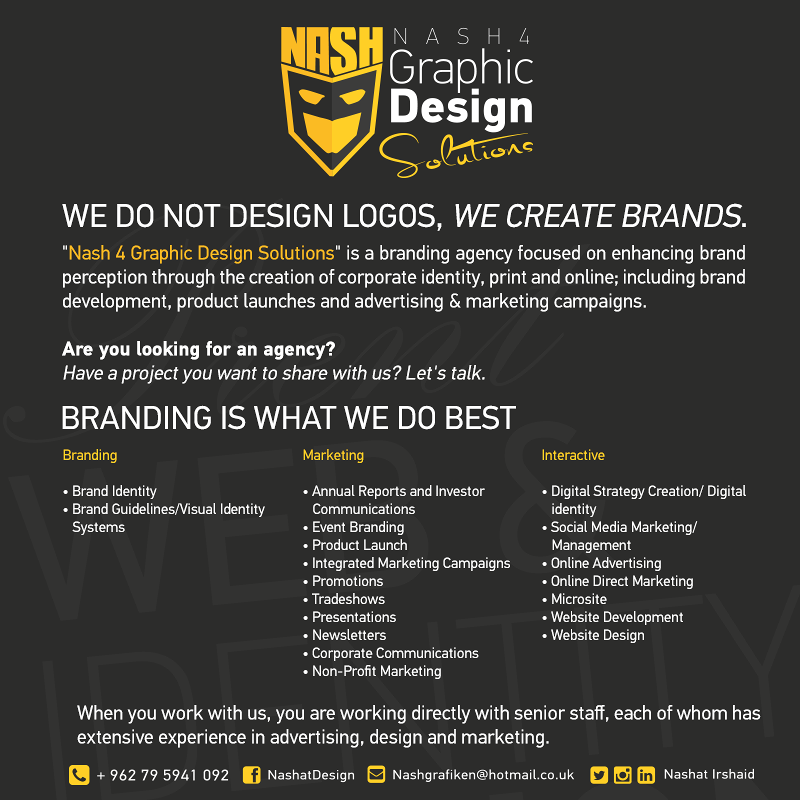 We do not design logos, we create brands