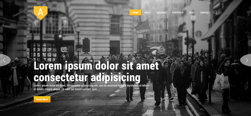 Multipurpose Theme PSD Template