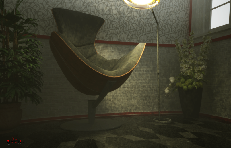 interior scene by c4d - vray 3 4 - By Mohamed Shalaby
