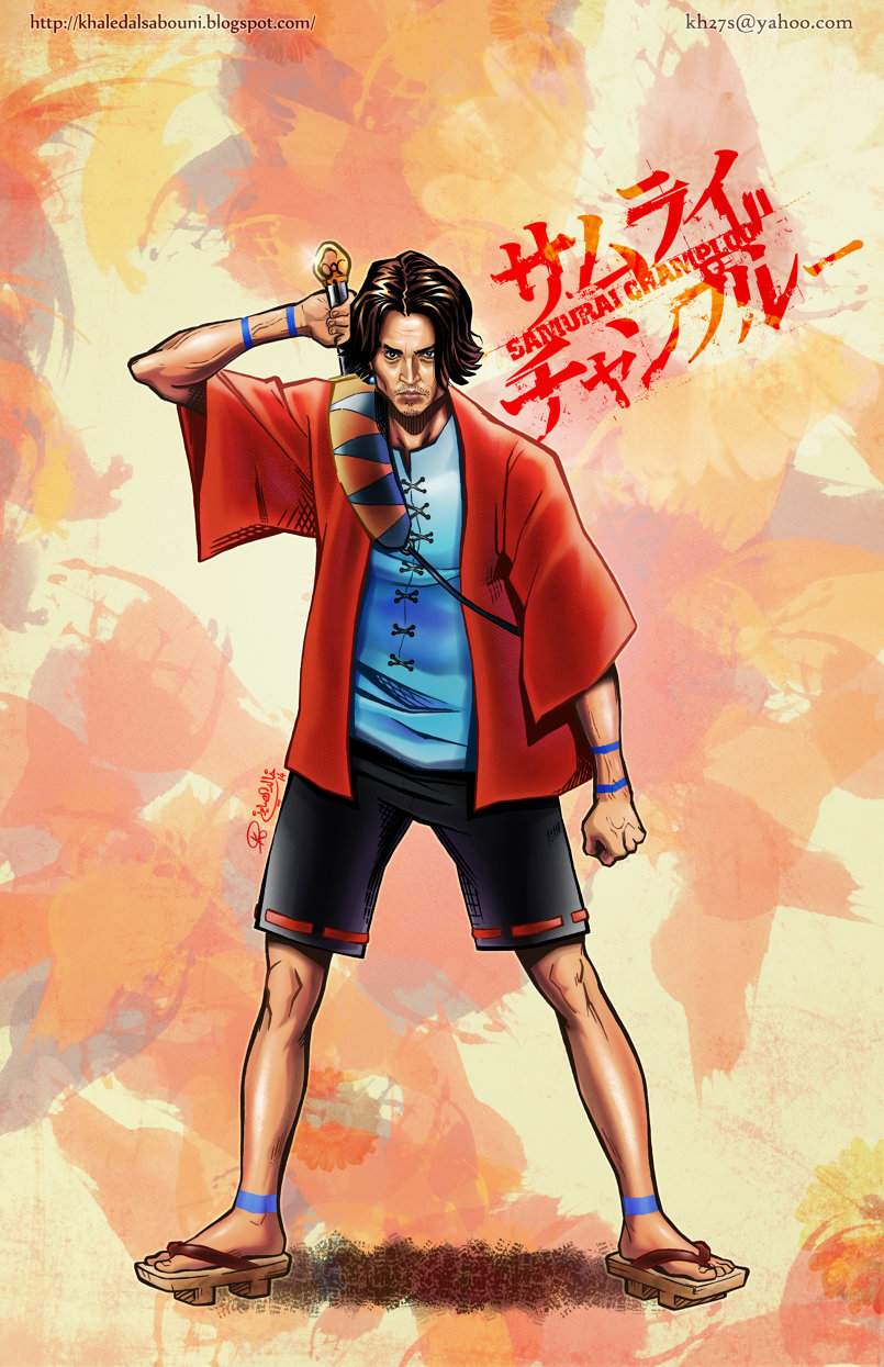 Johnny Depp as Mugen from Samurai Champloo.