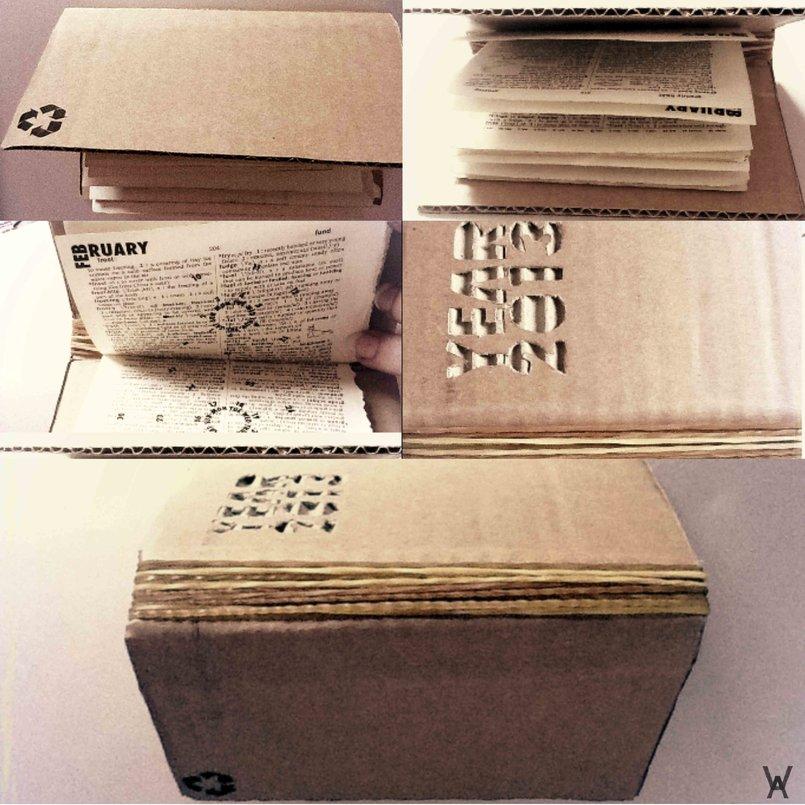 Dictionary-Recycled-Calendar