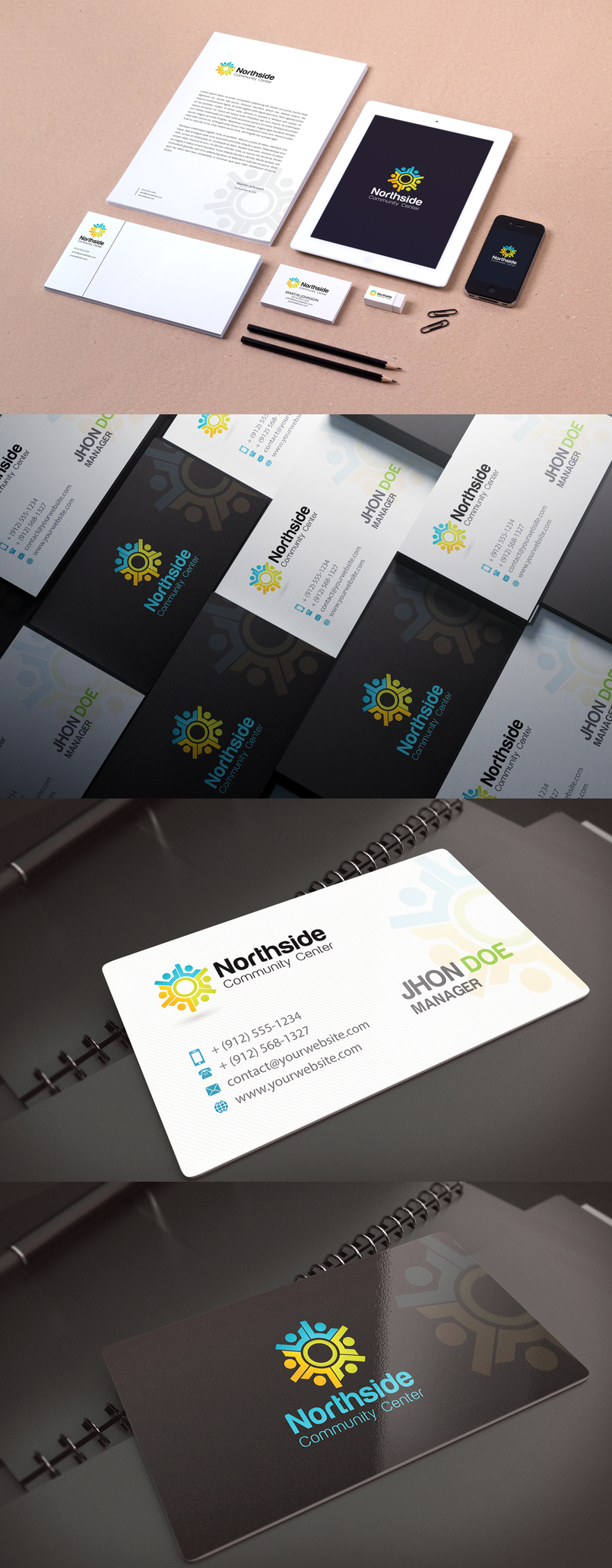LetterHead, Business card, envelope