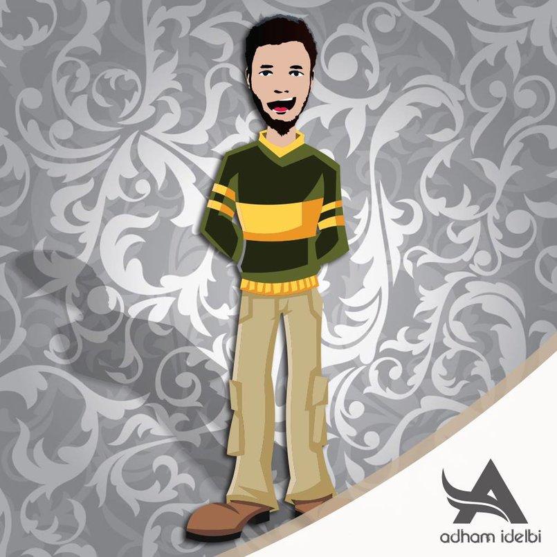 Adham Idelbi Cartoon Character