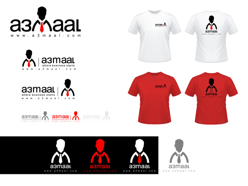 a3maal Logo and T-shirts