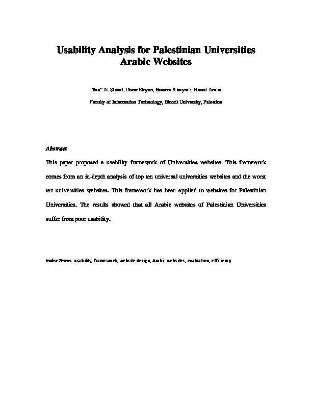 Usability Analyst