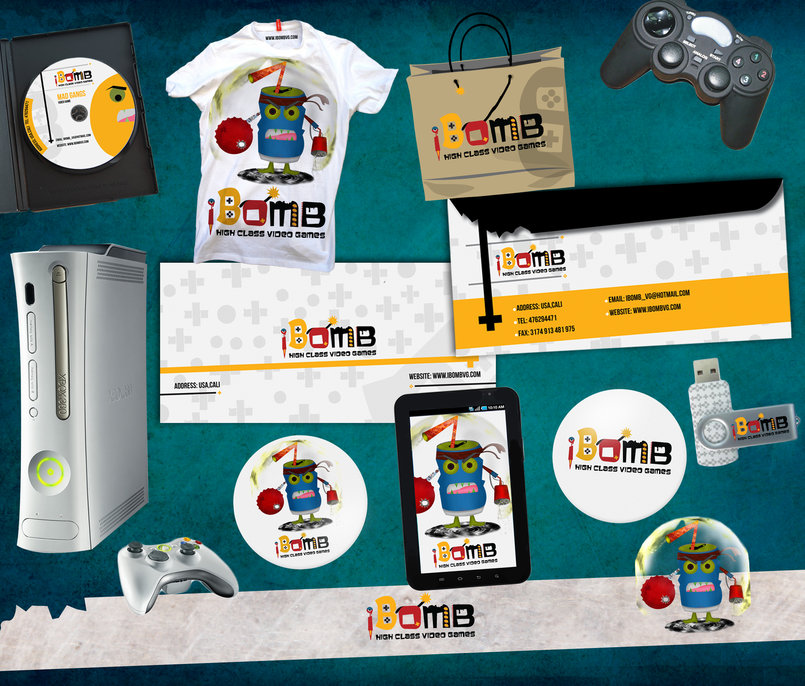 iBomb Video Game Brand Identity