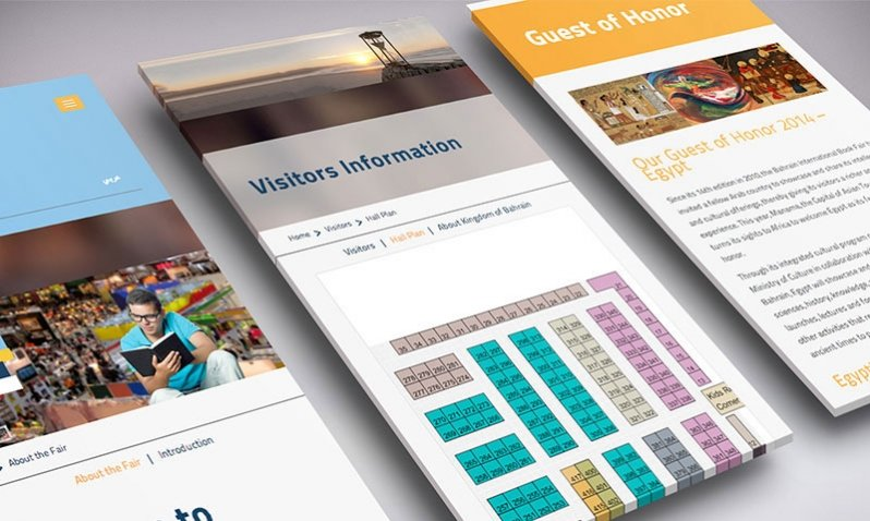 Bahrain International Book Fair 2013 | Parallax Website Design