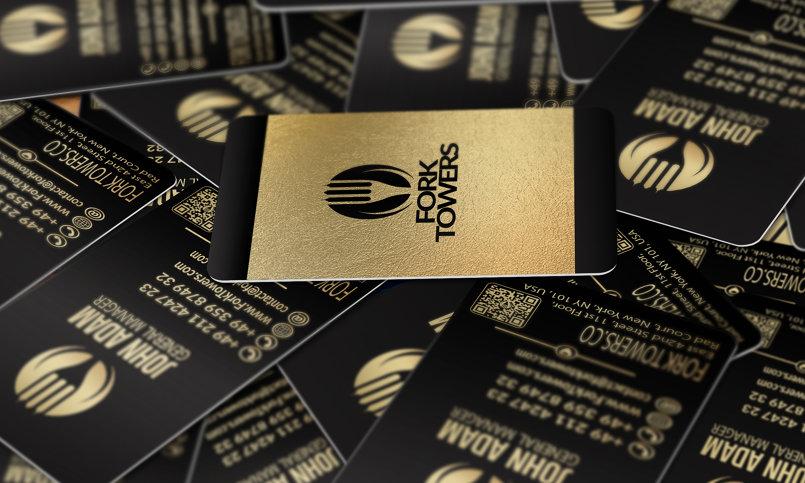 Black & Gold Business Card Design