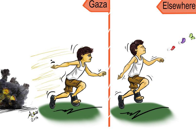 أطفال غزة منشور على بوابة فيتو الإخبارية - يوليو 2014