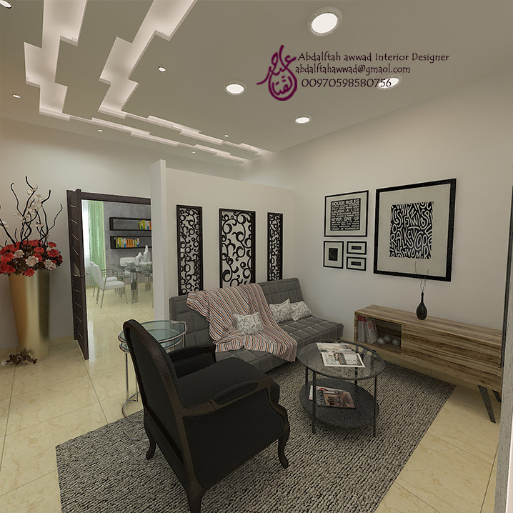 Interior Design for the house of Mr. Majdi Daoud Amman - Jordan