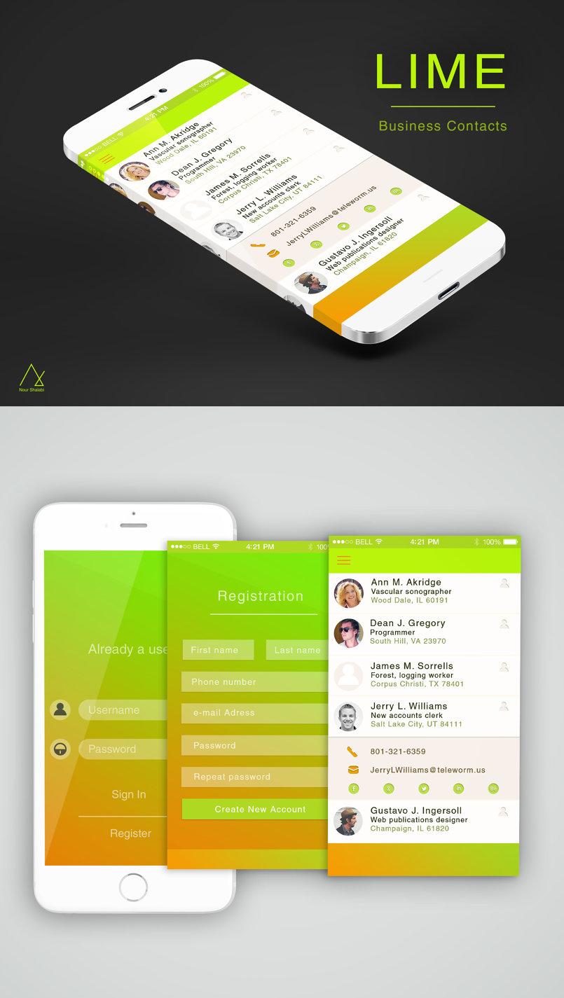 LIME UI Design