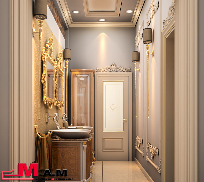 حمام و مغاسل مجلس الرجال / Bathroom and washbasins of men majles
