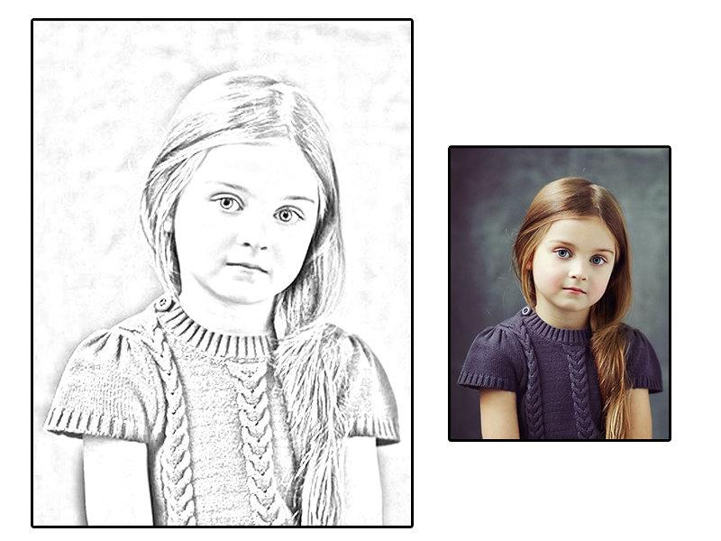 تحويل الصور الى رسم بالرصاص بإستخدام الفوتوشوب من تصميم Designer