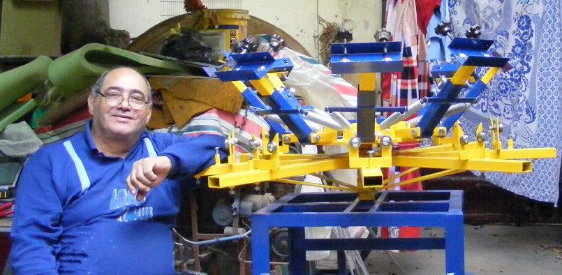 صناعة ماكينات طباعة الملابس وملحقاتها