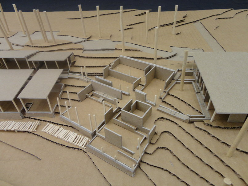 final model - separation of building sections, formation of wedge-gardens.