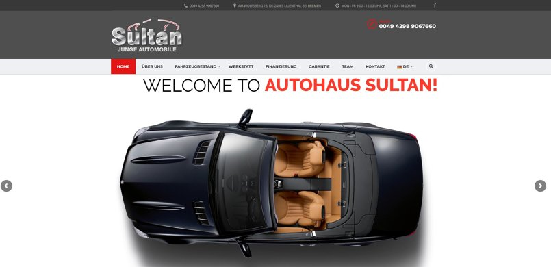 CAR DEALER  WEBSITE DESIGN